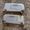 Солнцезащитные козырьки с зеркалом и подсветкой б/у в отличном состоянии
